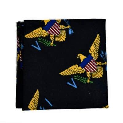 VI Flag Neck Gaiter - Black