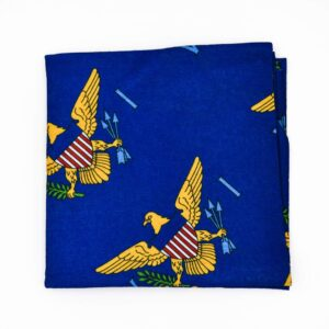 VI Flag Neck Gaiter / Tubular Bandana (Navy)