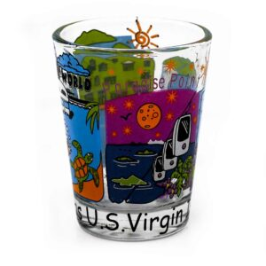 St. Thomas Scenes Shot Glass