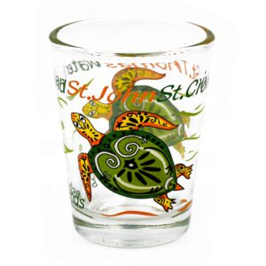Virgin Islands Turtle Shot Glass