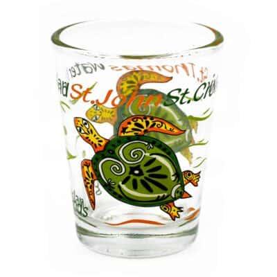 Virgin Islands Turtle Shot Glass