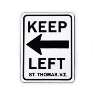 St. Thomas Keep Left Magnet