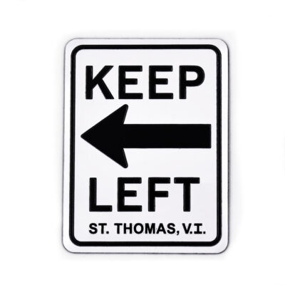 St. Thomas Keep Left Magnet