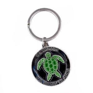St. Thomas Turtle Keychain