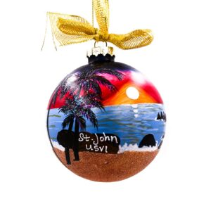 St. John Wild Sunset Ornament