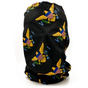 VI Flag Neck Gaiter / Tubular Bandana (Black)