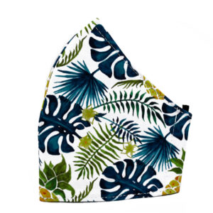 Tropical Blue Ferns Fashion Face Mask