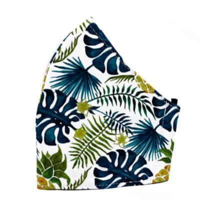Tropical Blue Fashion Face Mask