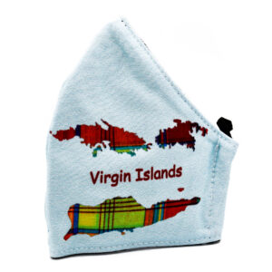 Virgin Islands Light Blue Madras Fashion Face Mask