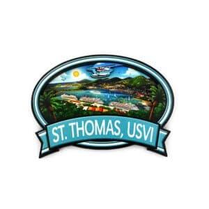 St. Thomas Harbor 3D Magnet